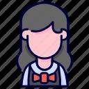 avatar, hotel, reception, services, waiter, woman icon