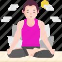 avatar, exercise, healthy, lifestyle, padmasana, people, yoga icon
