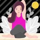 avatar, exercise, gomukhasana, healthy, lifestyle, people, yoga