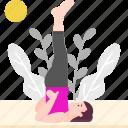 avatar, exercise, healthy, lifestyle, sarvangasana, yoga icon