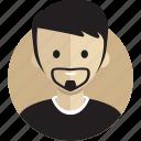 avatar, avatarcon, beard, man, person, profile