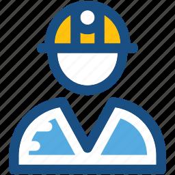 job, miner, miner avatar, occupation, worker icon
