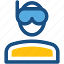 avatar, diver, man, people, swimmer icon