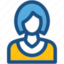 anchor, banker, girl avatar, miss, receptionist icon