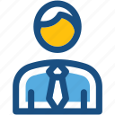 assistant, incharge, manager, office worker, supervisor icon