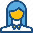 anchor, girl, lady, miss, news caster icon