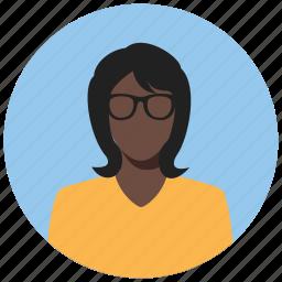 avatar, circle, female, human, person, user, woman icon