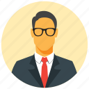 avatar, businessman, circle, human, male, man, user icon