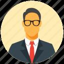 avatar, circle, human, male, businessman, man, user