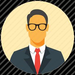 avatar, businessman, circle, human, male, man, user icon