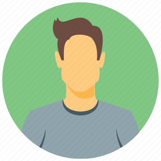 avatar, circle, face, human, male, person, user icon