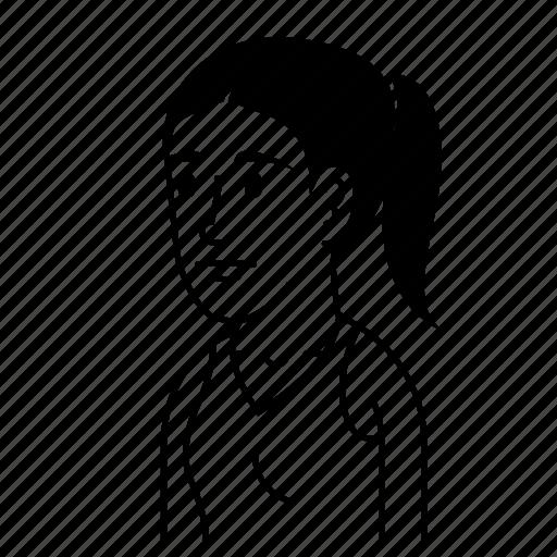 Avatar, avatars, female, girl, sad, woman icon - Download on Iconfinder