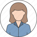 adult, avatar, body, people, teen, user, woman icon