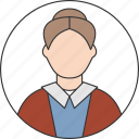 adult, avatar, body, grandmother, people, user, woman icon