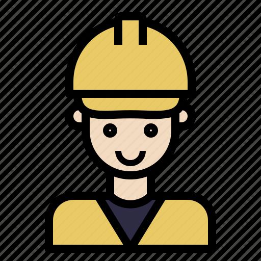 avatar, construction, engineer, foreman icon