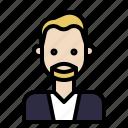 avatar, beard, hipster, man, mustache, style icon