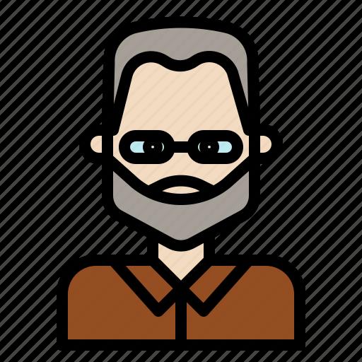 beard, doctor, man, mustache, professor, senior, style icon