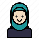 avatar, face, hijab, muslim, woman icon
