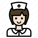 avatar, medical, nurse, woman icon