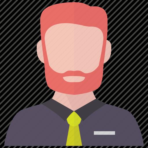 avatar, beard, business, man icon