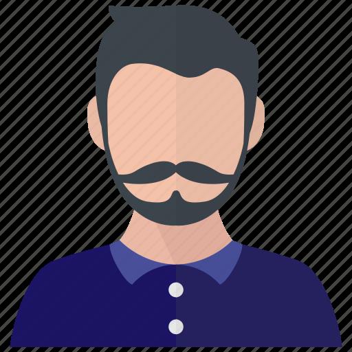 asian, beard, male, man icon