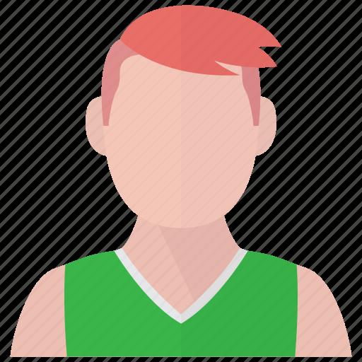 athletic, boy, man, profile icon