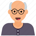 senior citizen, grandfather, old person, old age, old human, old man icon