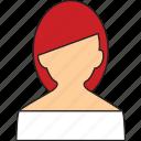 girl, person, redhead, user icon