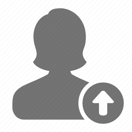 account, avatar, profile, promote, upgrade, user, woman icon