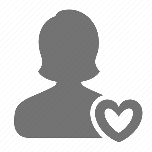 avatar, heart, love, match, profile, user, woman icon