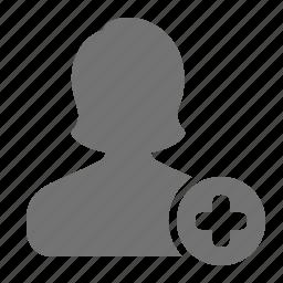 account, add, avatar, plus, profile, user, woman icon