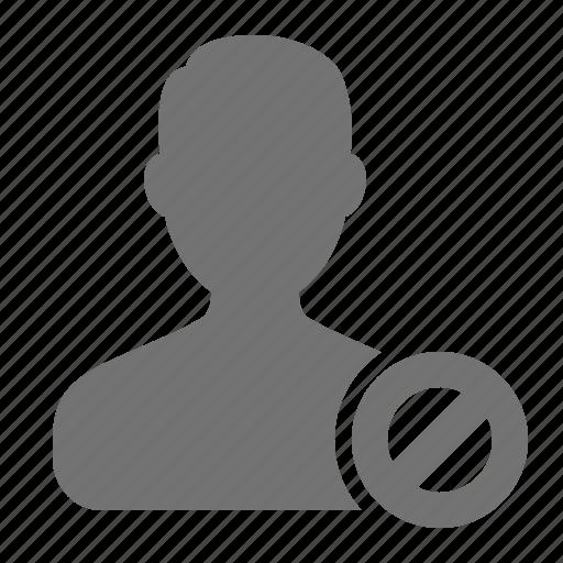 access, avatar, block, forbid, man, profile, user icon