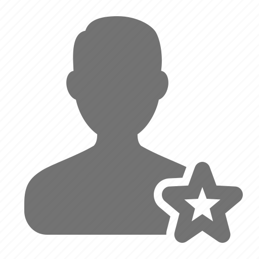 account, avatar, bookmark, man, profile, star, user icon