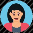 female, girl avatar, lady, schoolgirl, teenager icon