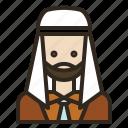 avatar, business, man, muslim icon