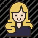 avatar, curl, hair, long, woman icon