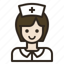 avatar, medical, nurse, woman icon