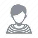avatar, cool, female, girl, hipster, people, person, stripes, stylish, tomboy, woman icon