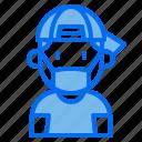 kid, avatar, profile, medical, mask