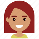avatar, emotion, face, female, girl, people, woman icon