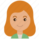 avatar, emoticon, face, female, girl, people, woman