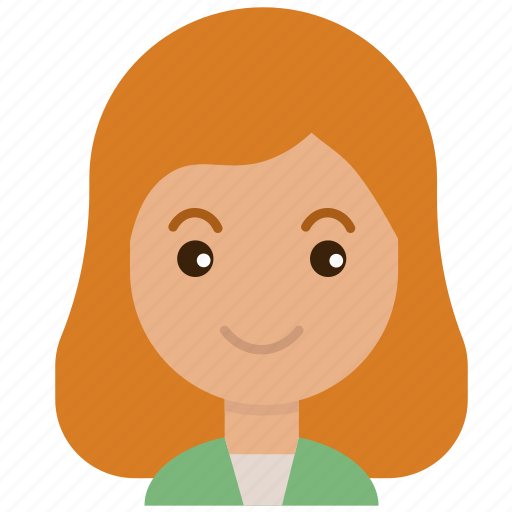 avatar, emoticon, face, female, girl, people, woman icon
