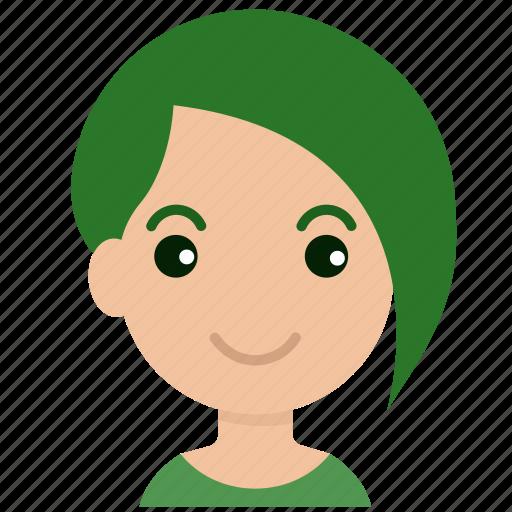 avatar, emoticon, face, female, girl, person, woman icon