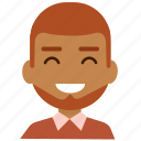 avatar, emoticon, face, man, people, person, smile icon