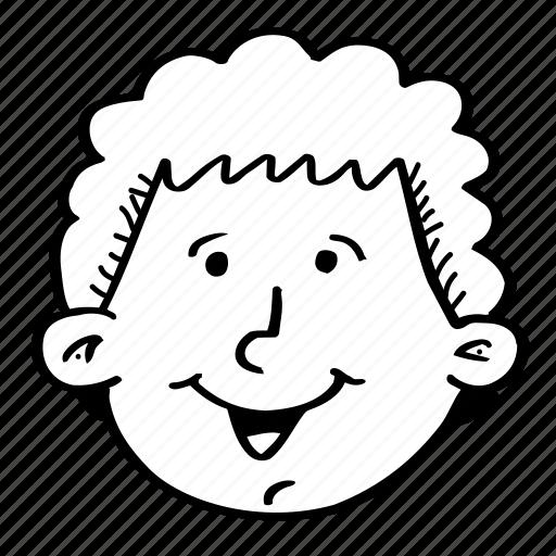 avatar, cartun, face, male, profile, smile, smiley icon