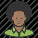 african american, afro, avatar, black man, man icon