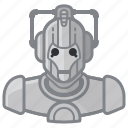 avatar, cyberman, doctor who, robot icon