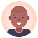 afro, avatar, male, man icon