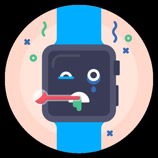 apple, avatar, illness, sick, watch icon