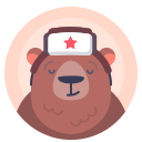 animal, avatar, bear, russian icon